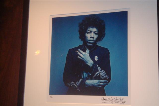Hendrix Photo from Whiskey Blue bar